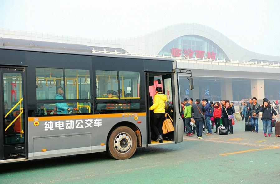 223辆纯电动公交车扮靓临汾城