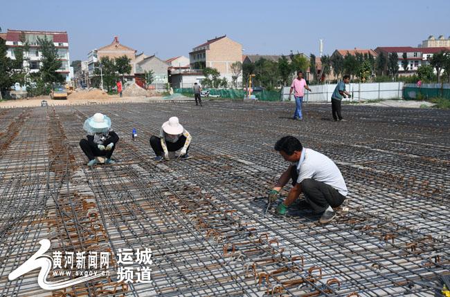 闻喜县涑水河桥建设项目加紧施工